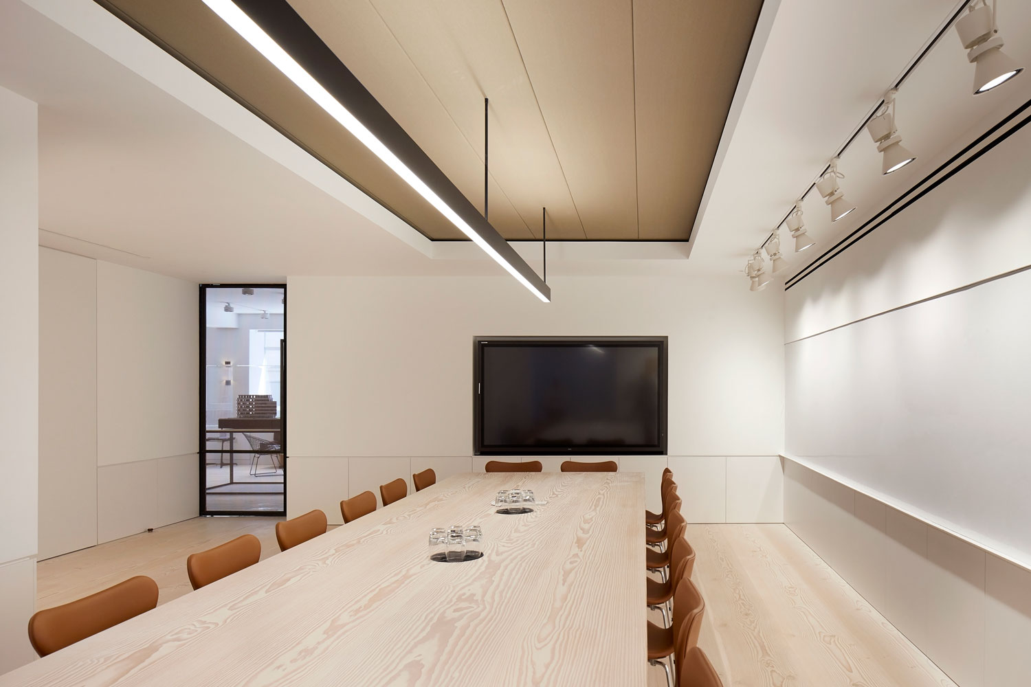 Boardroom table made with DInesen Timber