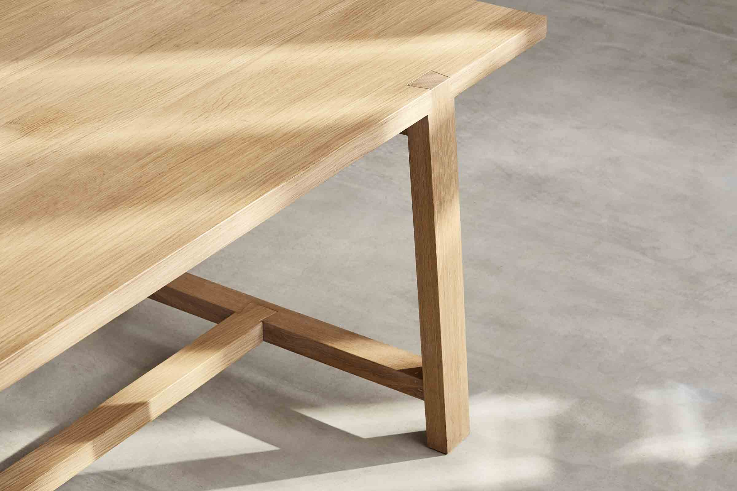 solid oak refectory style table