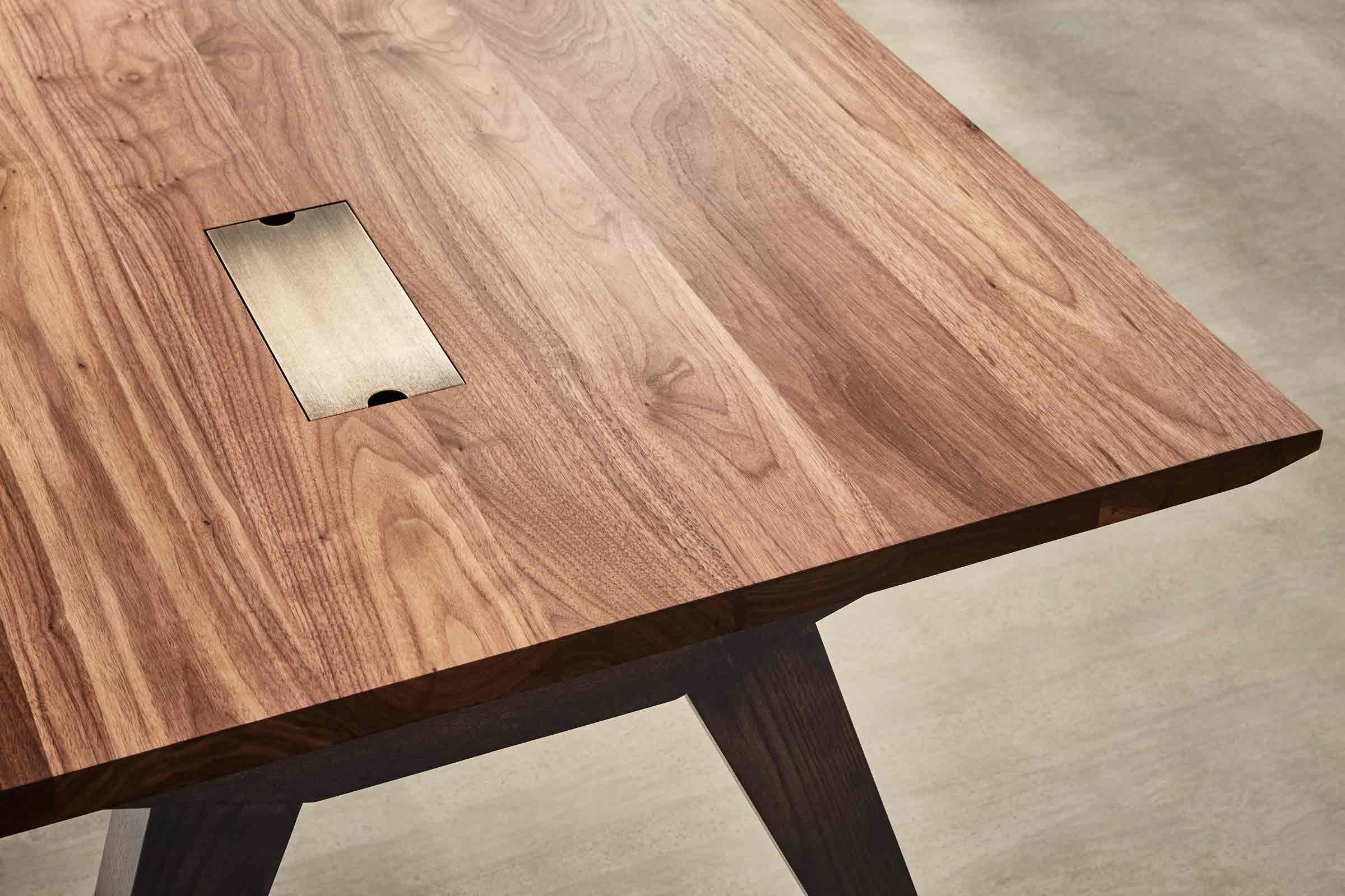 executive desk made from walnut