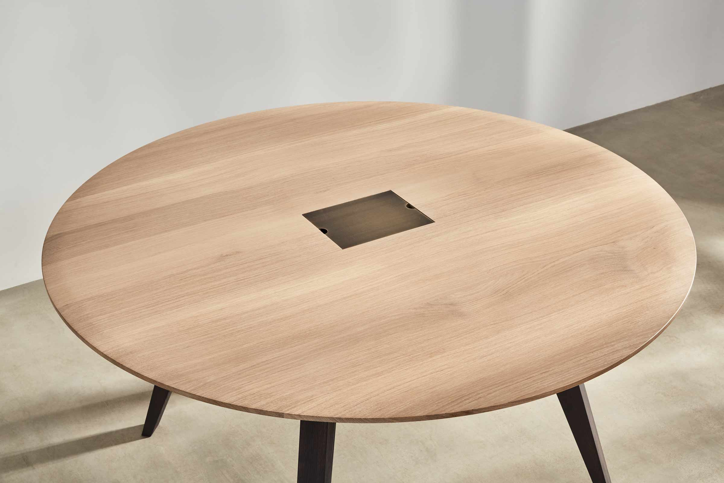 round meeting table made from ash