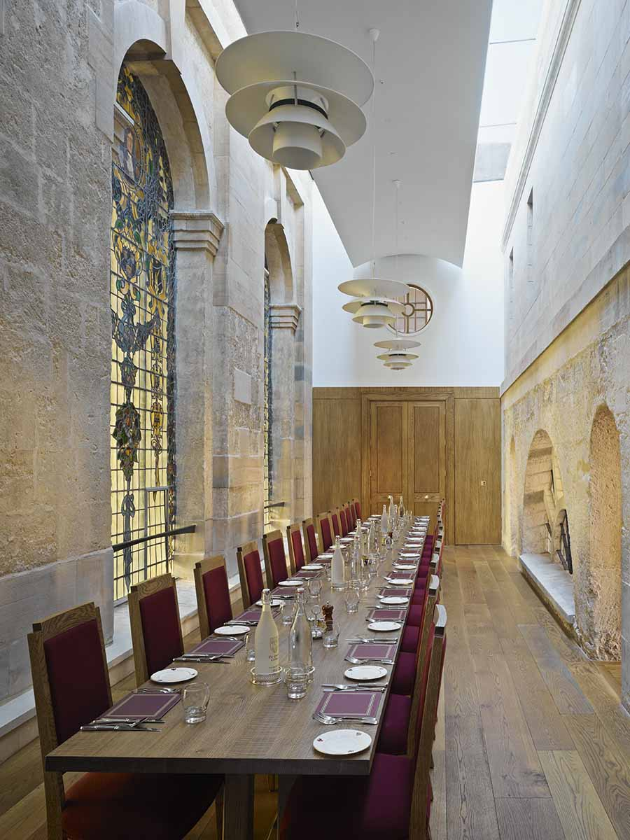 extra long dining table for Queens College, Oxford