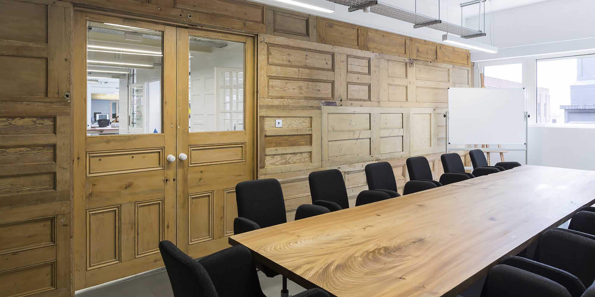 character oak boardroom table for Visual DNA
