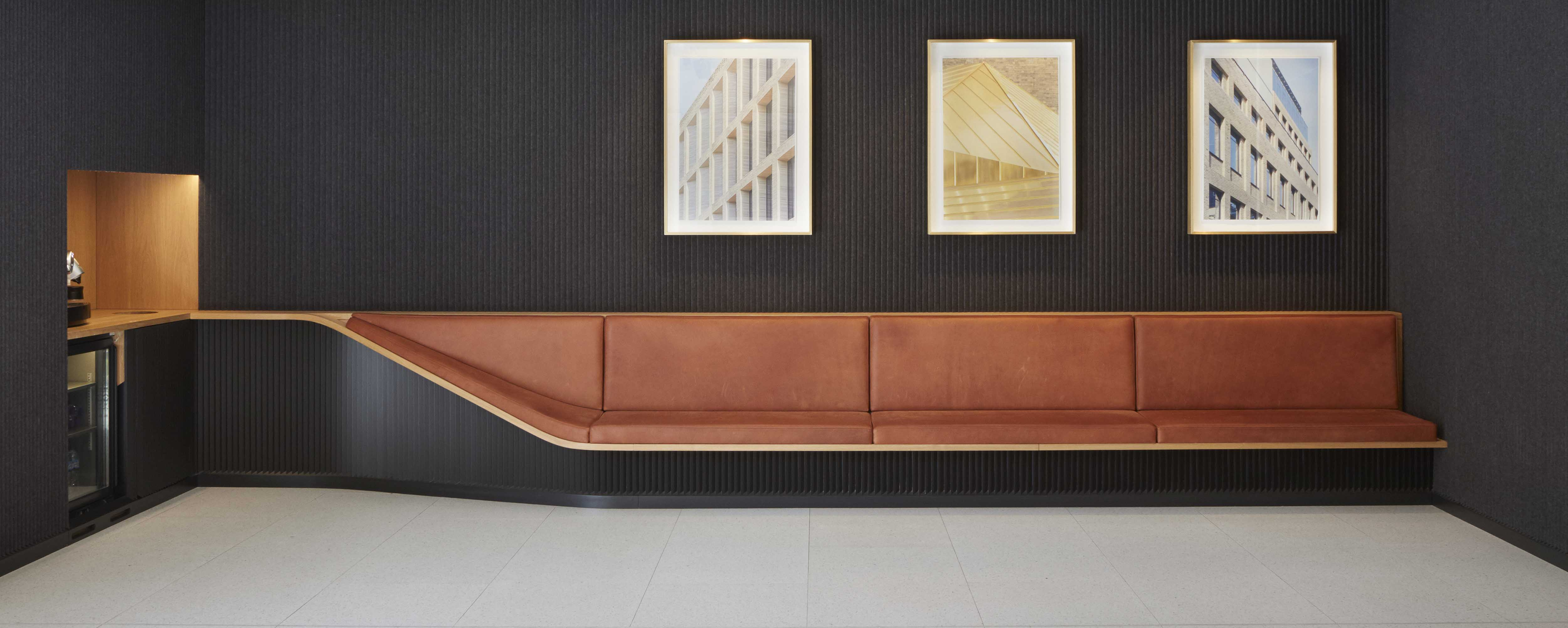 Bespoke reception seating for The Centro Building
