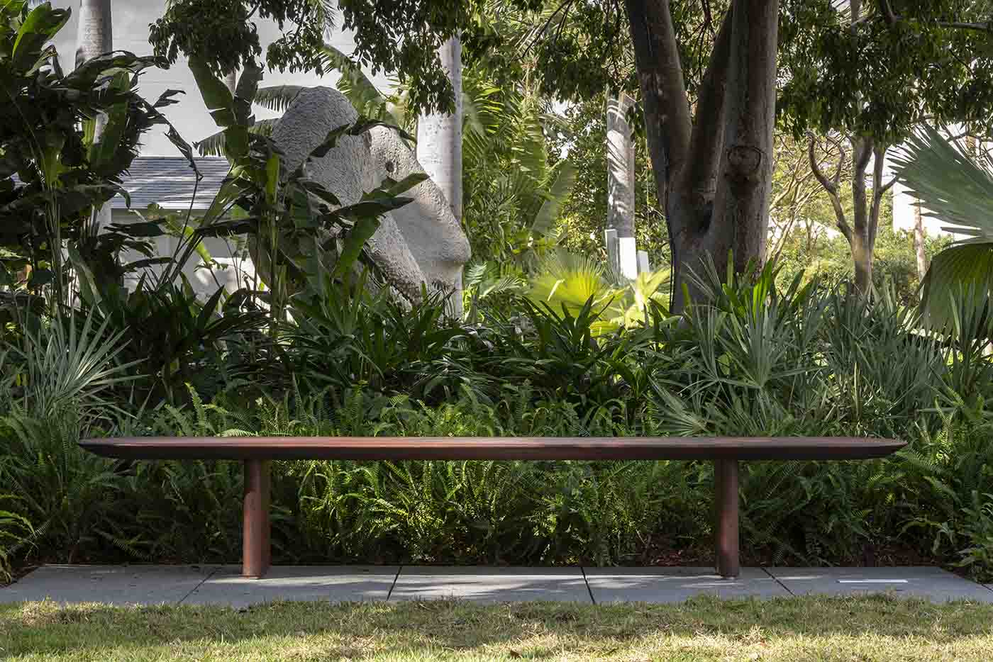 Bespoke outdoor bench for the Norton Museum in Florida