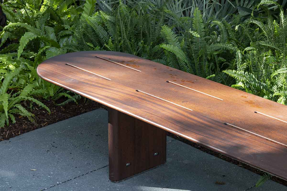Bespoke Outdoor Bench for the Norton Museum of Art